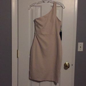 Lulu's Tan Bodycon Dress